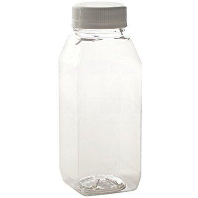 20 pack 12 oz Empty Plastic Juice Bottles with Tamper Evident Caps