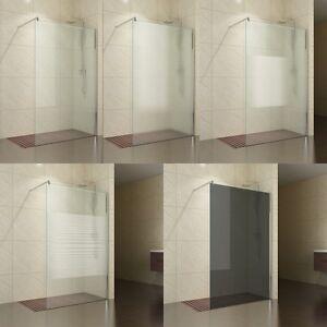 Walk in 10mm Glas Duschwand Nische Duschabtrennung Dusche ... | {Duschabtrennung glas nische 42}