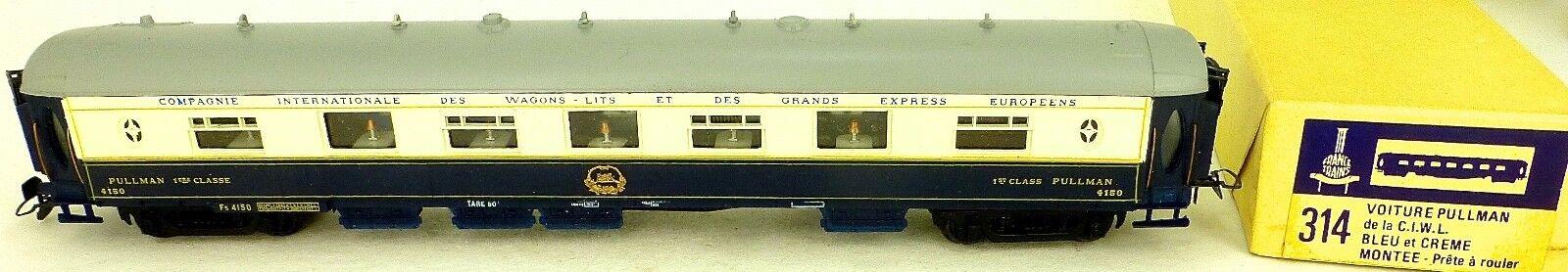 Crema azzurra Pulluomo 1ere cl 4150 Francia treni 314 h0 1 87 pack