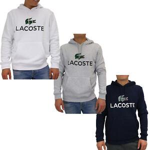 31cc4962932877 Das Bild wird geladen Lacoste-Sweatshirt-mit-Kapuze-Pullover-Kapuzenpulli- Hoodie-Herren-