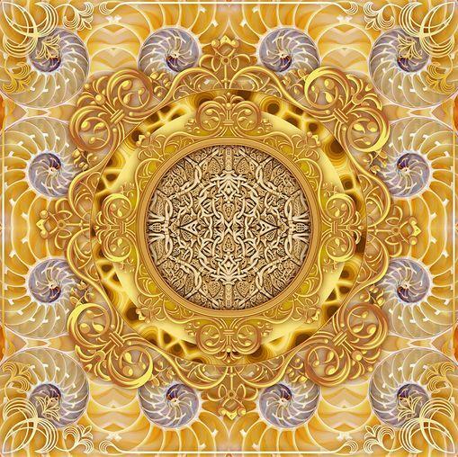 Imagen patrón oro 3D Piso Impresión De Parojo De Papel Pintado Mural Calcomanía 5D AJ Wallpaper