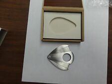 GENUINE CIGAR CUTTER IN NICE WOODEN BOX GREAT FOR GIFT REAL NICE