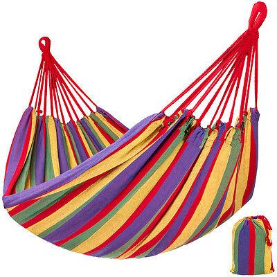 Hamac de jardin double grand lit suspendu camping balancelle transat terrasse