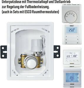 Einzelraumregelung-RTL-BOX-Ventil-Unibox-Fussbodenheizung-Stellantrieb-Thermostat