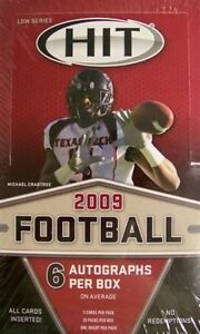 2009 Sage Hit Low Series Football Hobby Box - Factory Sealed!