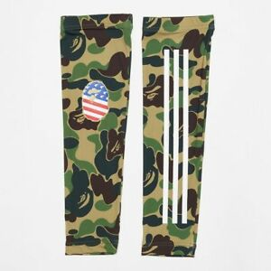 new concept ad7ad 8dad4 Details about Bape x Adidas Consortium A Bathing Ape Super Bowl Green Camo  Arm Sleeve S/M L/XL