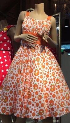 NWT Disney Parks Dress Shop Orange Bird Multi Color Bracelet Vintage Retro Style