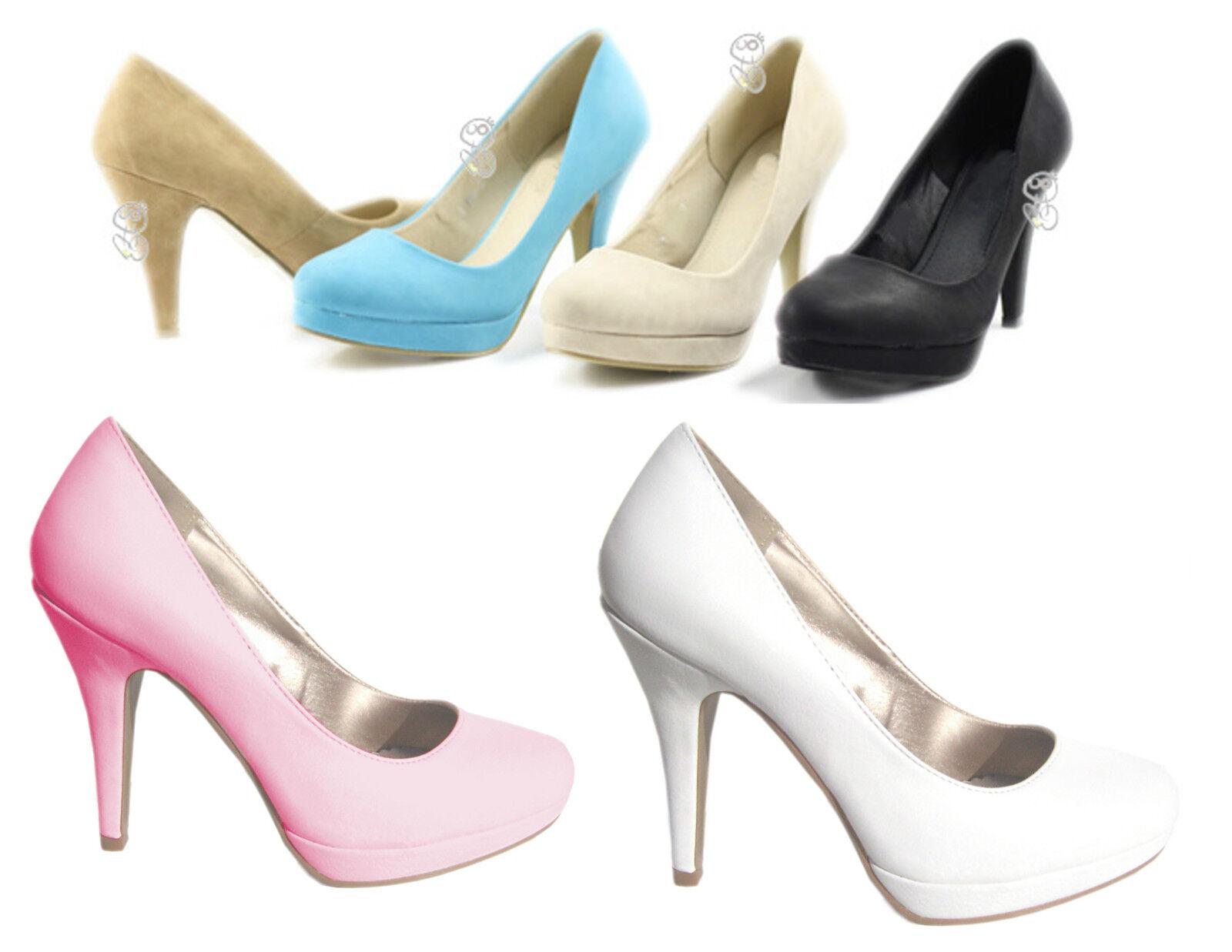 Chaussures pour femmes talons hauts éscarpins plateau blanc 36 37 38 39 40 41