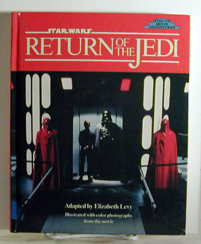 1985 STAR WARSReturn of the Jedi StepUp Movie Book w Photos UNREAD