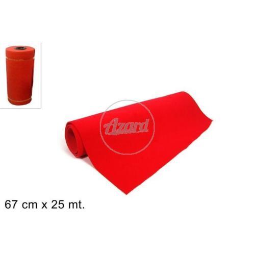 Rotolo passatoia tappeto natale 67 cm x 25 mt rosso natale party