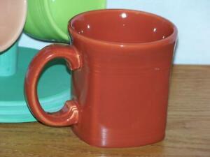 Fiesta-PAPRIKA-13-oz-Square-Mug-Discontinued-Item-amp-Color