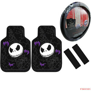 image is loading 5pcs nightmare before christmas car truck front floor - Nightmare Before Christmas Steering Wheel Cover