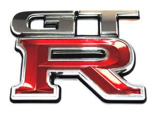 nissan gt r gtr rear self adhesive badge emblem logo new genuine