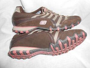 Details about Skechers Sport Straight Away Sneaker Slip on Shoes 21552 Brown Women's sz 7.5