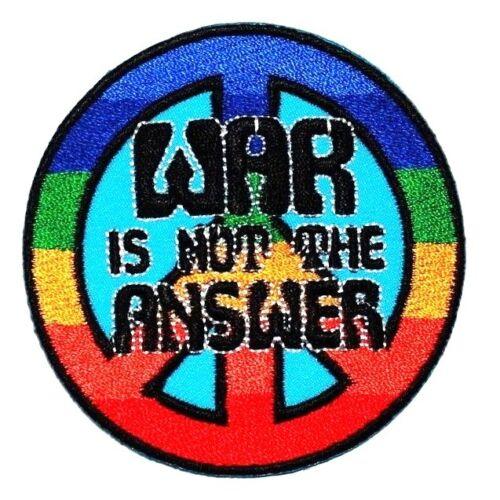 Symbole de la paix mondiale sans guerre Colorful Rainbow Hippie Emblème Veste iron on patch