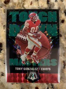 2020 Mosaic TONY GONZALEZ Touchdown Masters GREEN Prizm Refractor