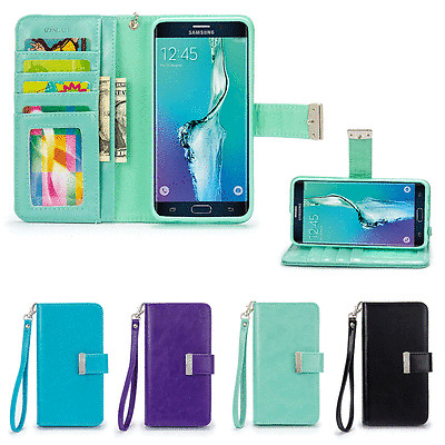 IZENGATE ID Wallet Flip Case PU Leather Cover for Samsung Galaxy S6 Edge+ Plus