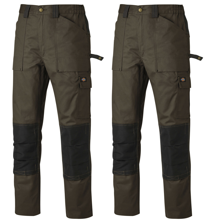 Dickies ricattatore TWIN PACK DUO pantaloni di cotone Tono Marronee e Nero (Varie dimensioni)