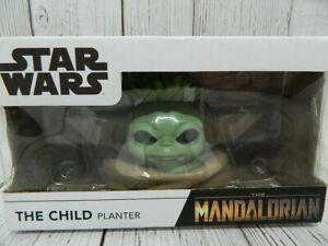 Disney Star Wars The Mandalorian Child Head Faux Succulent Planter NEW