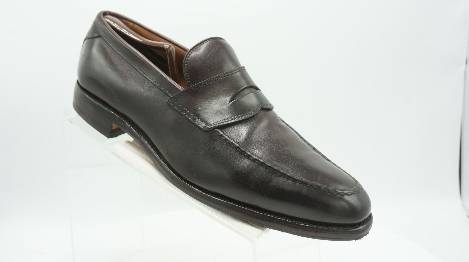 Allen Edmonds Hinsdale Sz 13 C Cordovan Leather Slip On Penny Loafers Mens shoes