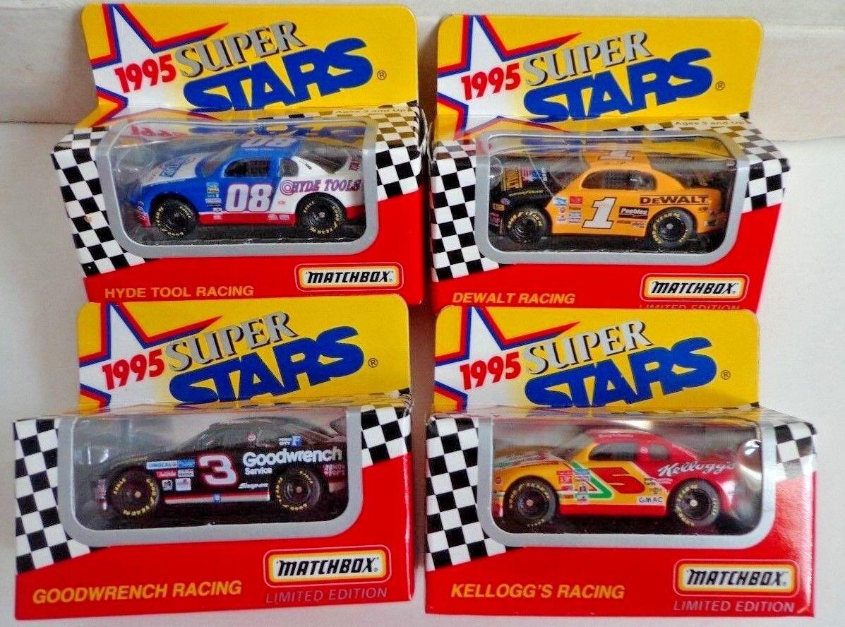 Lot Of 23 1995 NASCAR Matchbox Super Stars 1 64 Scale Diecast Cars
