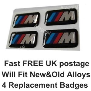 4 x Badges Sticker for M Tech Sport Alloy Steering BMW Wheel M3 1 3 5 7 X M Z M5