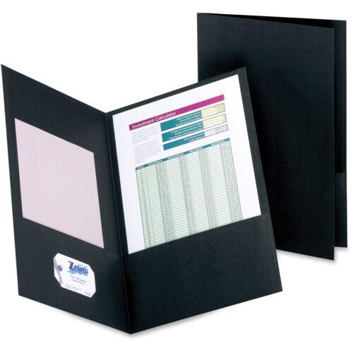 25//BX Black 5012705 TOPS Products Twin-Pocket Folder Legal 100 Sheet Cap