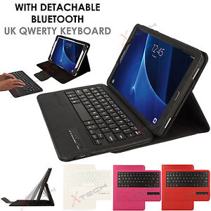 superior quality 77f2a 02406 Details about Bluetooth Keyboard Leather Case +Stand for Samsung Galaxy Tab  A 10.1 T580 Series
