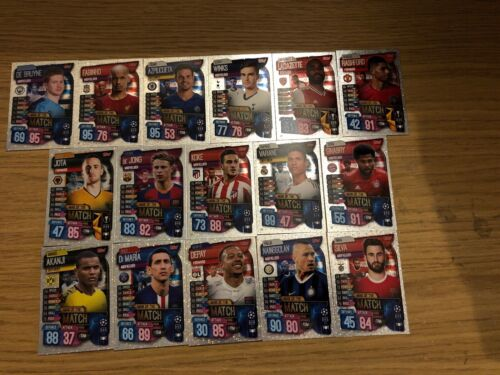 Match Attax 2019//20 Full Set of All 16 Man of the match cartes 257-272 Comme neuf
