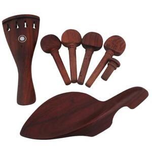 4/4 Reemplazo de violín Contrafuerte de madera de rosa y Tailpiece &