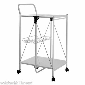 Image Is Loading Castleton Home Folding Kitchen Trolley White