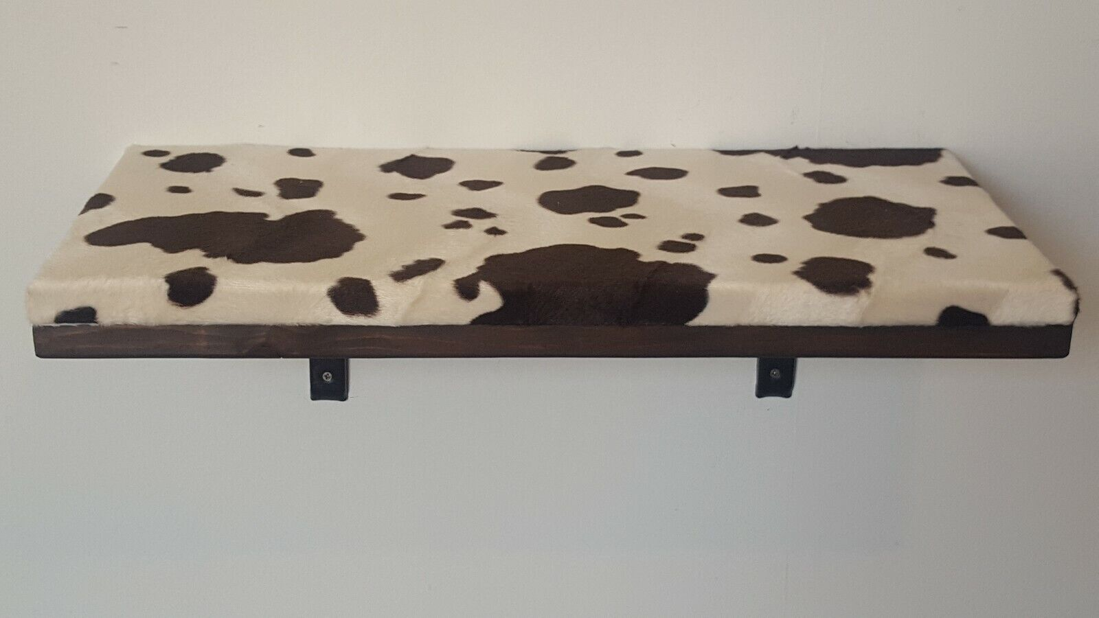 GRANDE STAMPA MUCCA TESSUTO CAT Shelf-Pine Wood