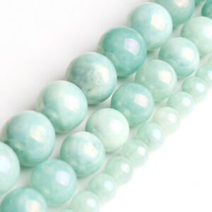 Hot-Pure-Natural-Cyan-Angelite-Stone-Bead-Strands-Jewelry-Loose-Beads-6mm-10mm