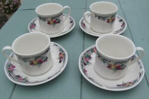 Royal-Doulton-Autumns-Glory-Tea-Cups-amp-Saucers-Set-of-4-19-99-Post-Free-UK
