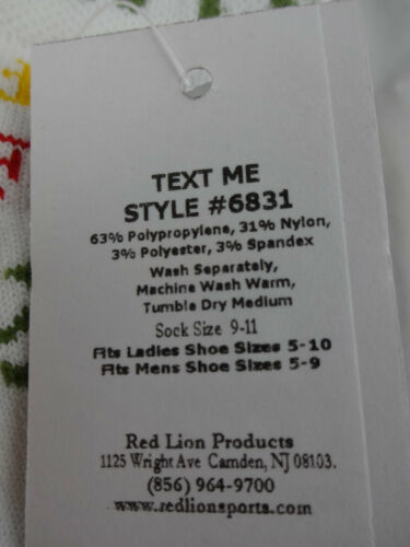 Ladies White Ankle Socks Text Messages OMG LOL BFF Red Lion Novelty Socks