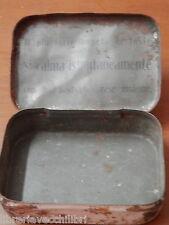 Antica scatola in latta PASTICCHE PER LA TOSSE il piu forte impeto si calma del