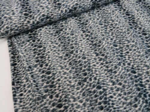 Snow Leopard Animal Print Pony Skin Velboa Fabric Soft Dress Upholstery Material