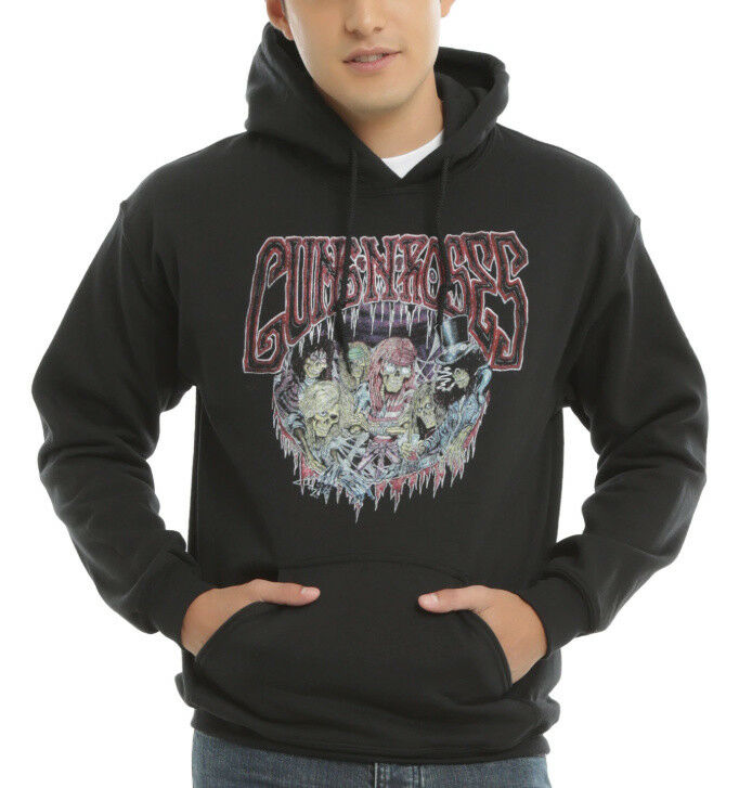 Guns N' Roses SKELETON BAND USE YOUR ILLUSION Pullover Hoodie NEW 100% Authentic