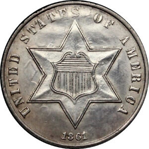 1861-3CS-Three-Cent-Silver-with-Civil-War-Date-Beautiful-Surface-amp-Great-Strike
