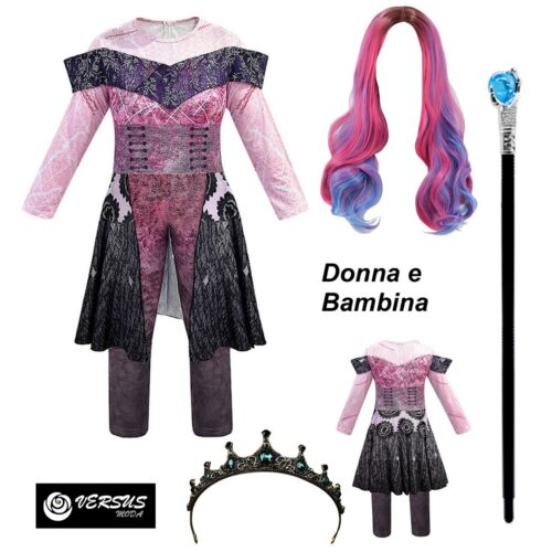 Simile Descendants Vestito Carnevale Audrey Donna Bambina Dress 3 DESC02 WIG5