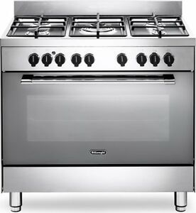 Cucina A Gas 5 Fuochi De Longhi Forno Elettrico Ventilato 90x60 A Inox Gemma9 Ebay