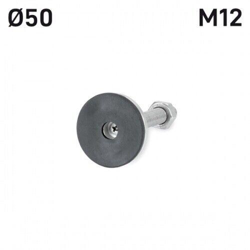M12 x 80 mm Edelstahl Stellfuß Gerätefuß Möbelfuß Maschinenfuss Ø50