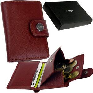 bcbf59de752aa Das Bild wird geladen PICARD-kleine-Damen -Geldboerse-Rot-Geldbeutel-Portemonnaie-Brieftasche-