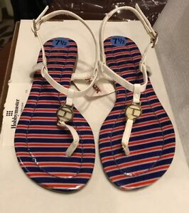NWT-Tommy-Hilfiger-Thong-sandal-size-7-5-white