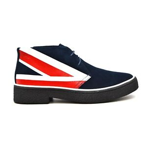 a9df6db2ae Details about British Walkers Collection Men s Original Playboy Old-School  Shoes Union Jack