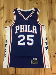 0c427e0c3 Image is loading ADULT-NBA-BASKETBALL-JERSEY-25-BEN-SIMMONS-PHILADELPHIA-