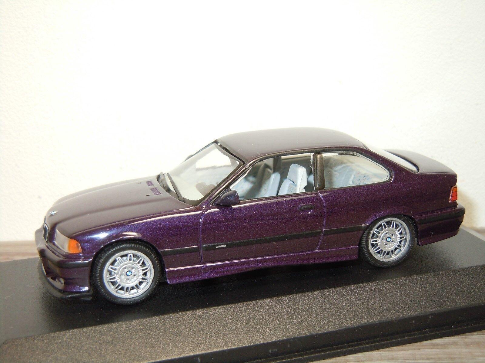 BMW 3 Serie E36 M3 Coupe Daytonaviolett met - Minichamps  1 43 in Box 34264  réductions incroyables