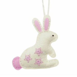 Sewing Kit to Make a Felt Bunny Decoration - Easter Crafts   Craft Kits & Gifts