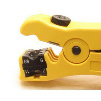 Coax Coaxial Cable Wire Cutter Stripper for RG7//11 and RG59//6 Platinum Tool