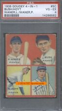 1935 Goudey 19 Bush Waite Hoyt (5C) Paul Lloyd Waner PSA 4 (6582)